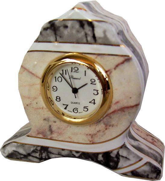 Keramik Kaminuhr Tischuhr mittelgro/ß stehend wei/ß Quarz Einsteckuhr Artline